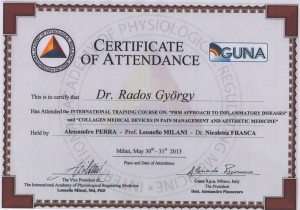 GUNA Certificate Vác