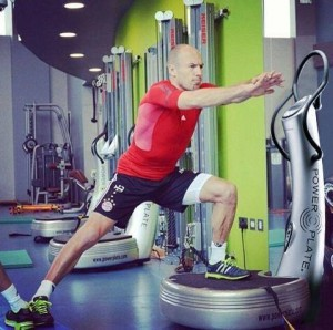 Arjen Robben, a Bayern játékosa is Power Plate-tel növeli robbanékonyságát és gyorsaságát.