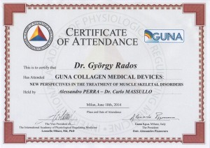 GUNA certificate - Collagen Medical Devices